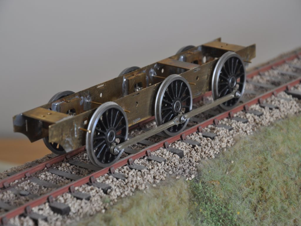 Jinty (3F) chassis with S7 wheels and crankpin nuts